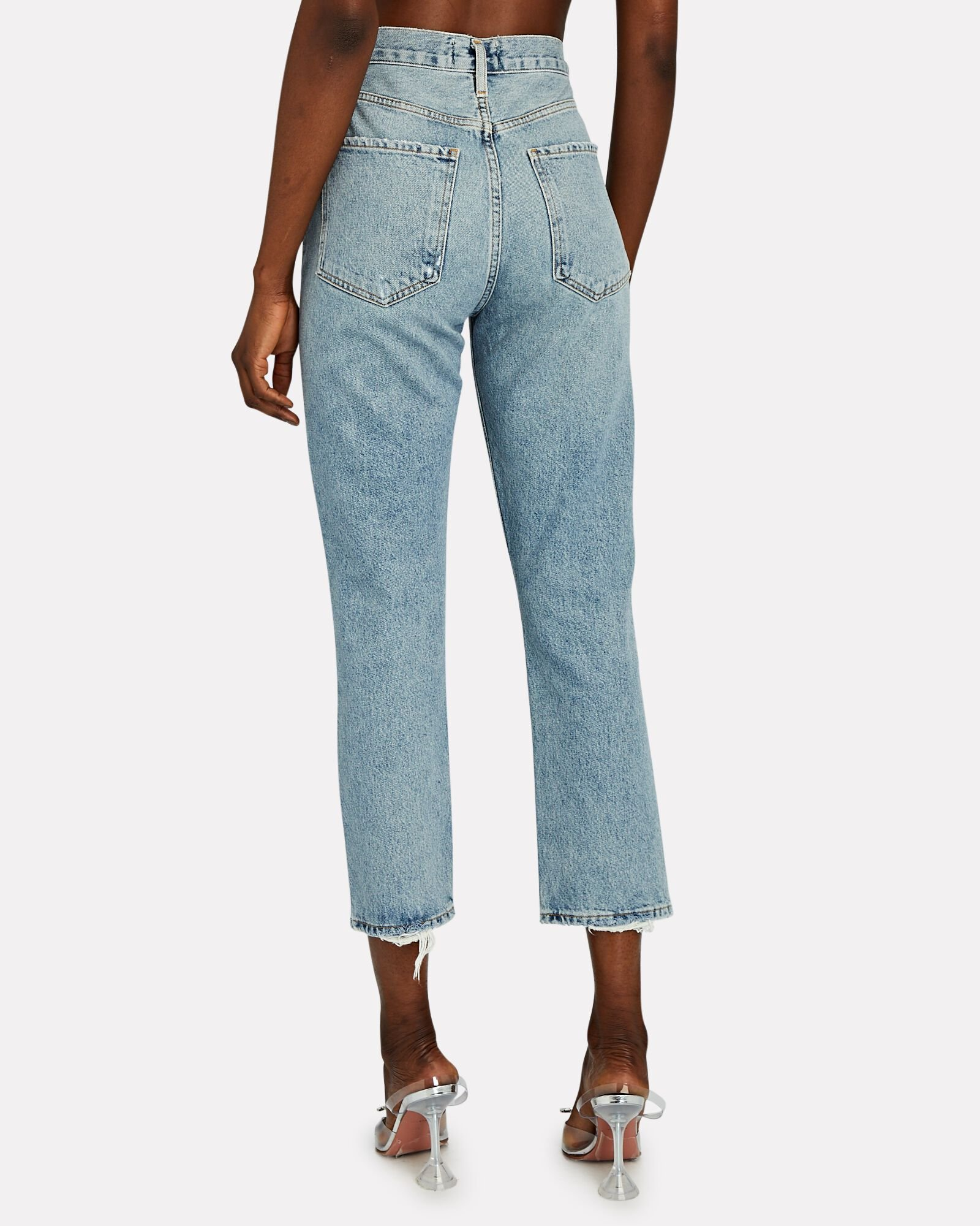 Riley High-Rise Straight Cropped Jeans, ESCALATE, hi-res