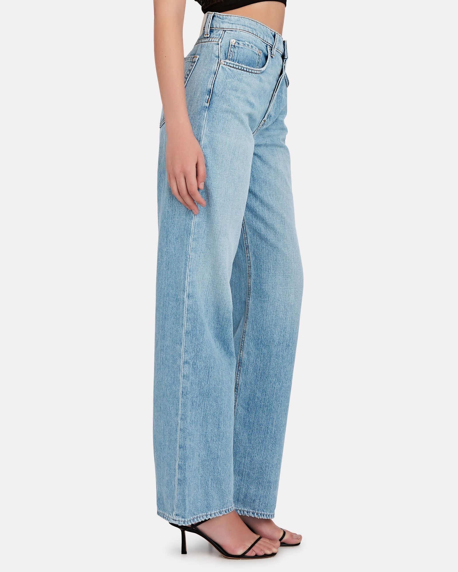 Brooklyn High-Rise Straight-Leg Jeans, MIRACLE MILE, hi-res