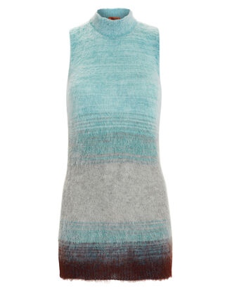 Mohair Turtleneck Tank, BLUE-LT, hi-res