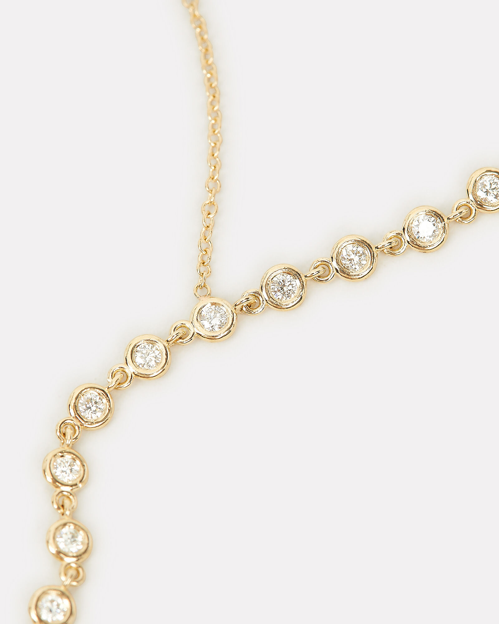Floating Diamonds Necklace, GOLD, hi-res