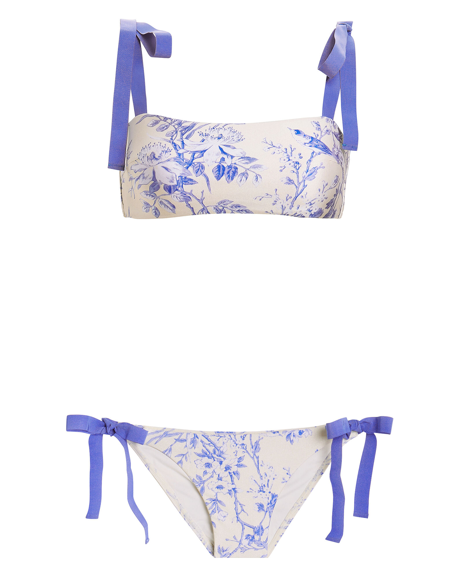 Verity Tie Bandeau Bikini Set, BLUE-MED, hi-res