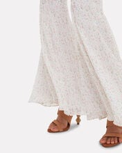 High-Rise Bell Flare Floral Pants, MULTI, hi-res