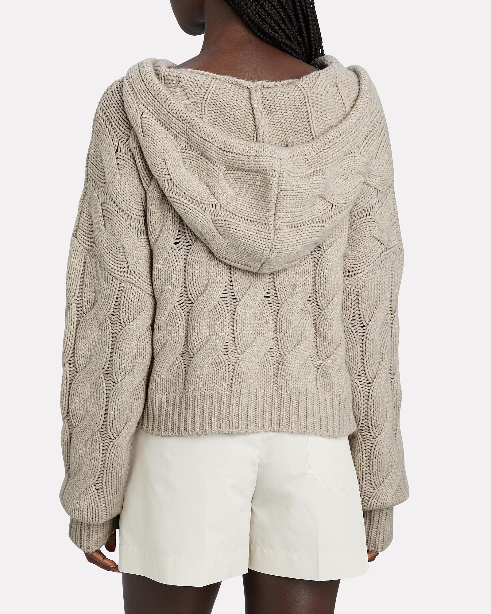 Luke Cable Knit Cashmere Hoodie, , hi-res