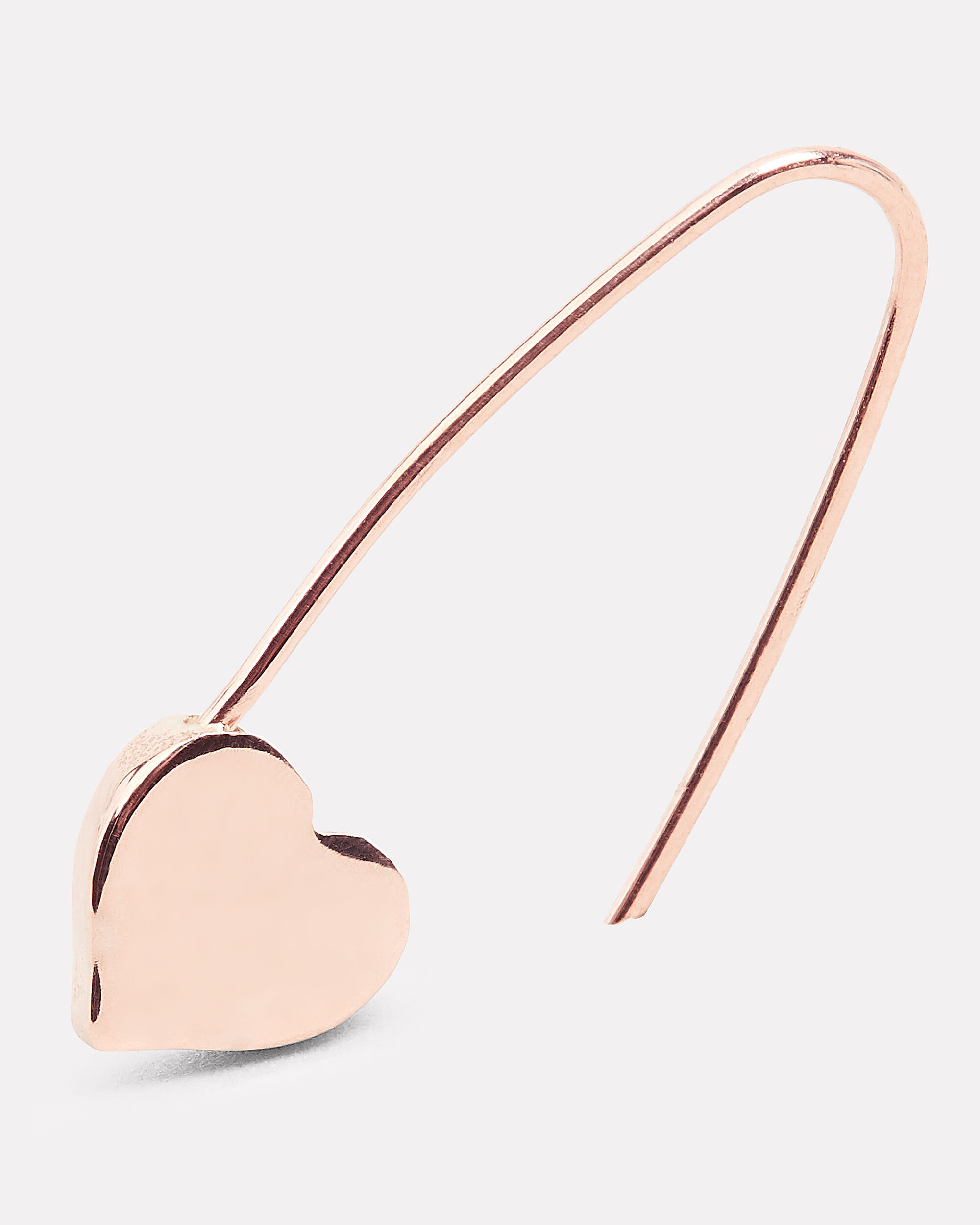 Heart Safety Pin Earring, ROSE GOLD, hi-res