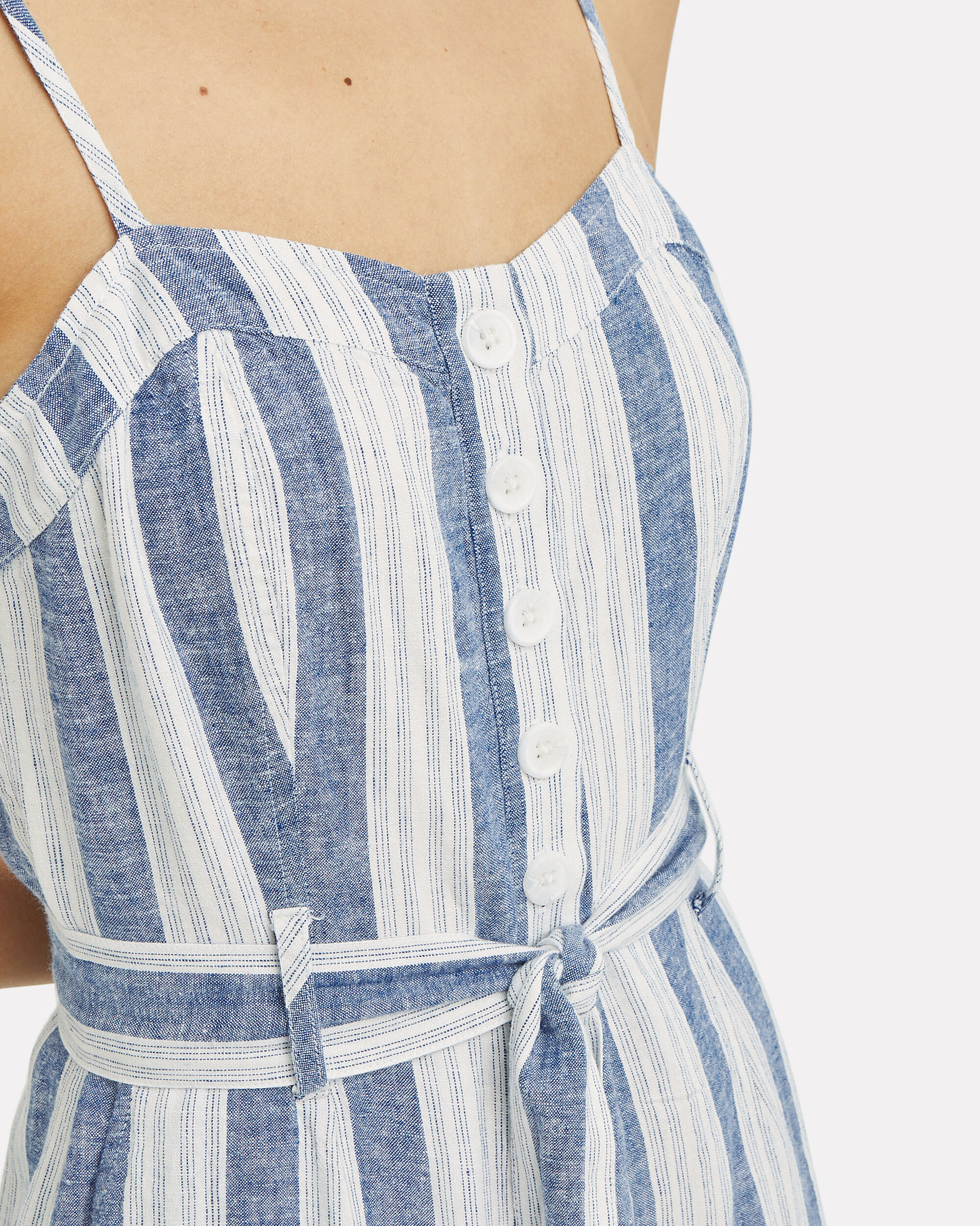 Harper Linen Jumpsuit, BLUE/WHITE/STRIPES, hi-res