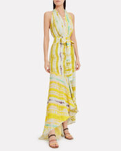 Ardell Halter Gown, YELLOW/STRIPE, hi-res