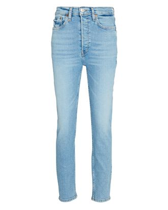 90s High-Rise Ankle Crop Jeans, LIGHT STONE, hi-res