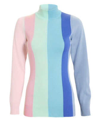 Dolly Pastel Striped Sweater, BLUE/PINK, hi-res