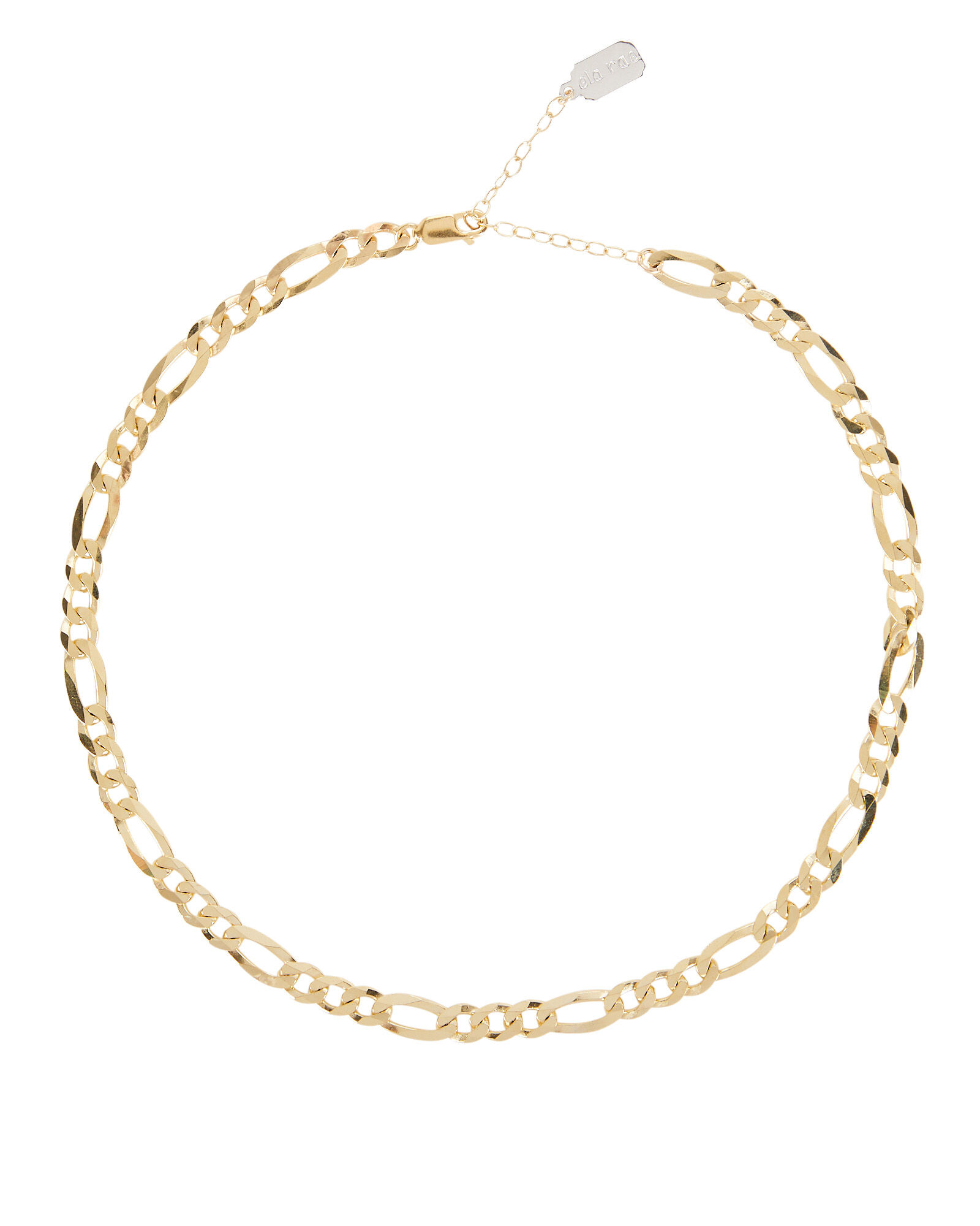 Flat Figaro Chain Necklace, GOLD, hi-res