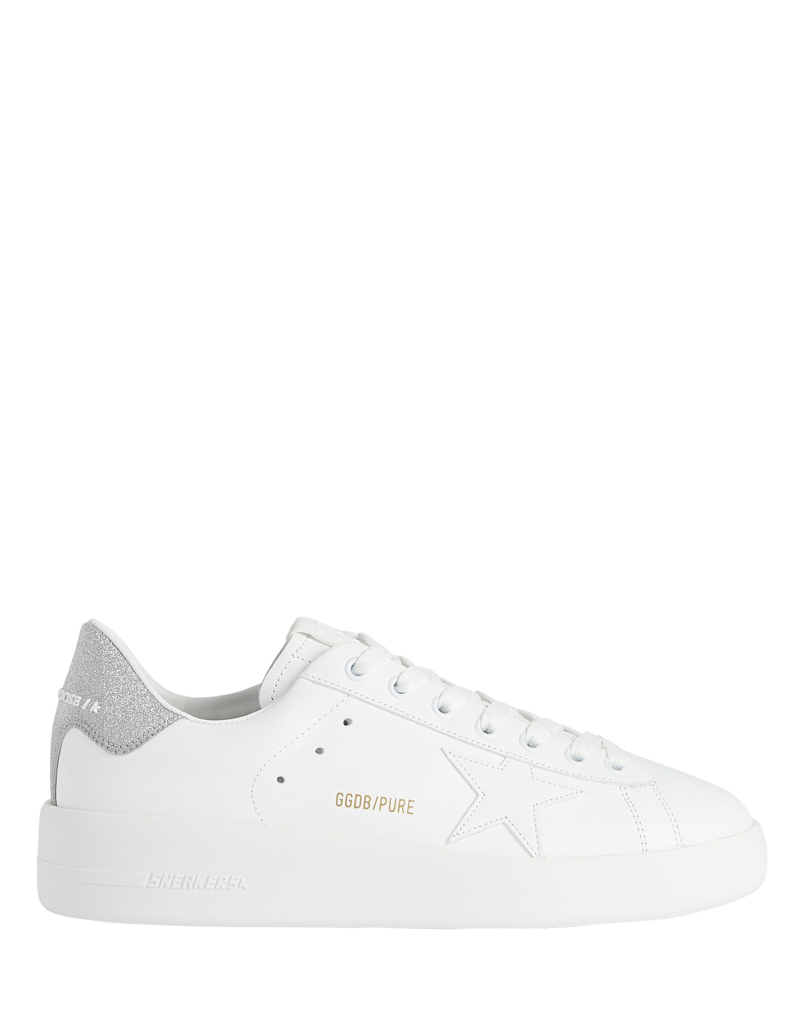 Purestar Leather Low-Top Sneakers, WHITE, hi-res