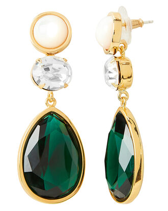 Fete Earrings, GOLD/GREEN, hi-res