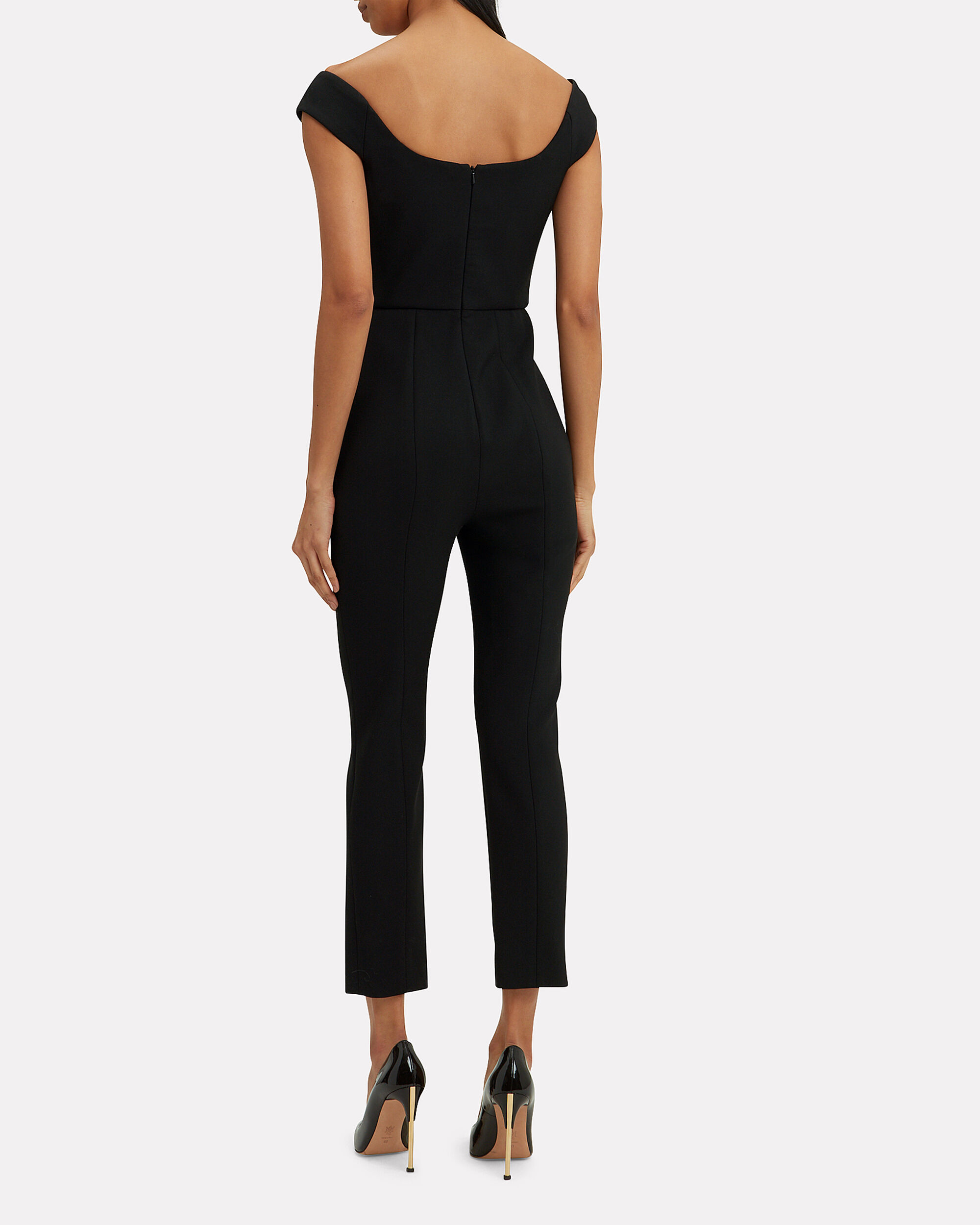 Finn Off Shoulder Jumpsuit, BLACK, hi-res