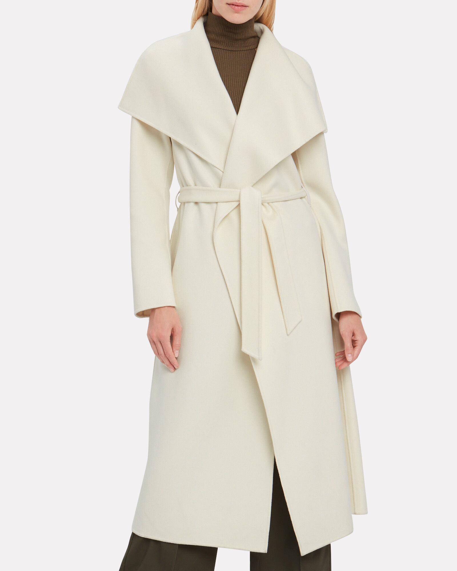 Mai Wool Wrap Coat, IVORY, hi-res