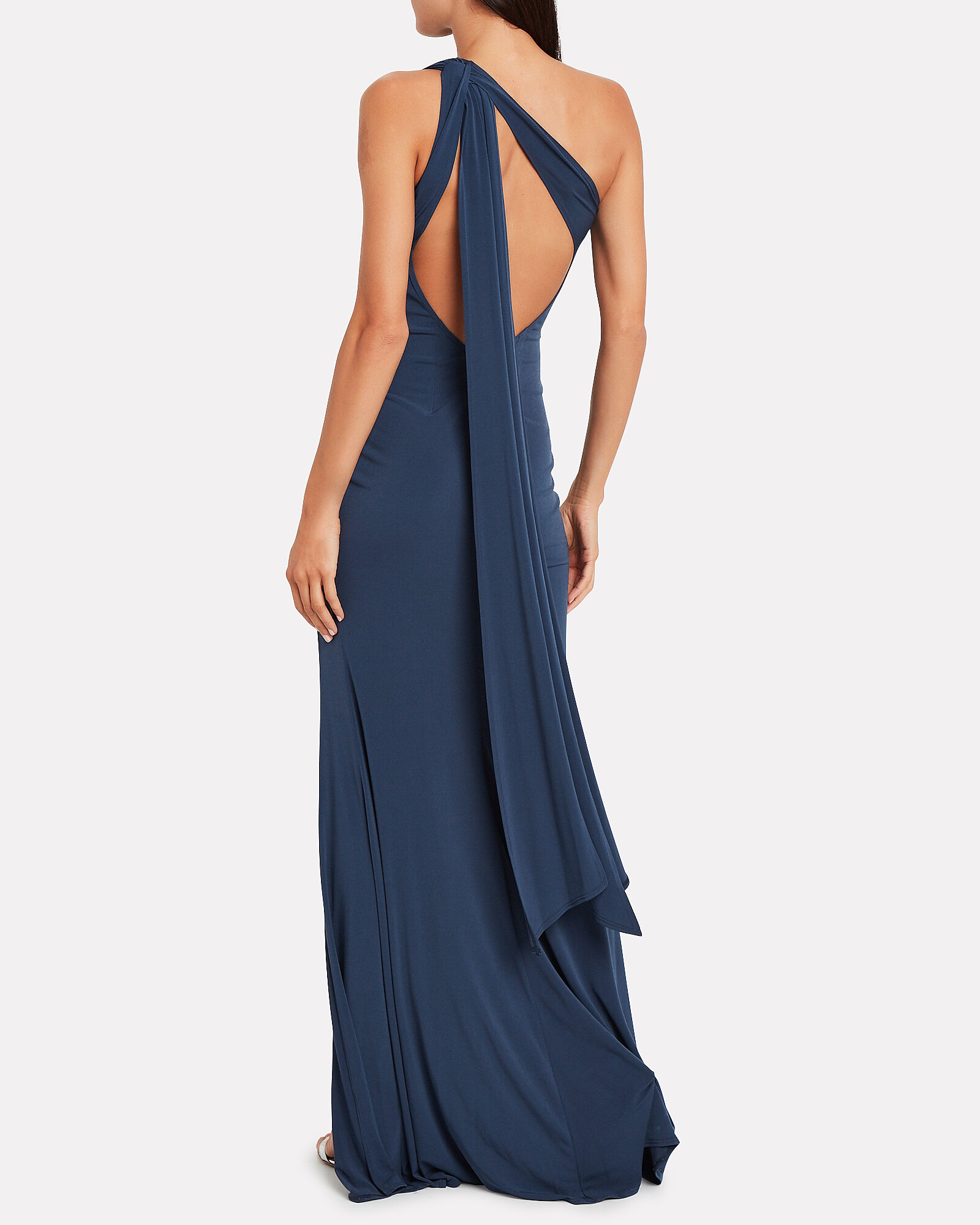 Attention Seeker One-Shoulder Gown, DEEP SEA BLUE, hi-res