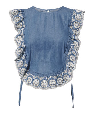 Chambray Apron Top, DENIM-LT, hi-res