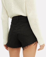 Ryland Cut-Off Denim Shorts, BLACK, hi-res