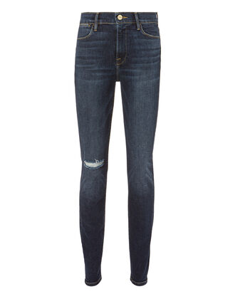 Le High Skinny Ripped Jeans, DENIM-DRK, hi-res