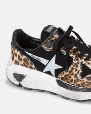 Leopard White Star Running Sneakers, LEOPARD, hi-res