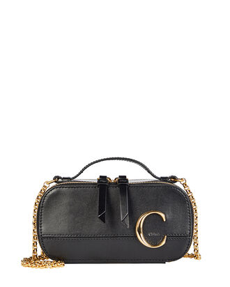 Camera Leather Crossbody Bag, BLACK, hi-res