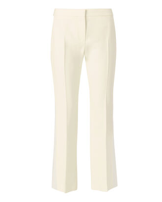 Silk Cropped Trousers, IVORY, hi-res