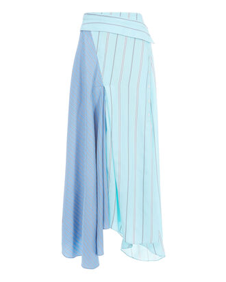 Mixed Stripe Silk Maxi Skirt, STRIPE, hi-res