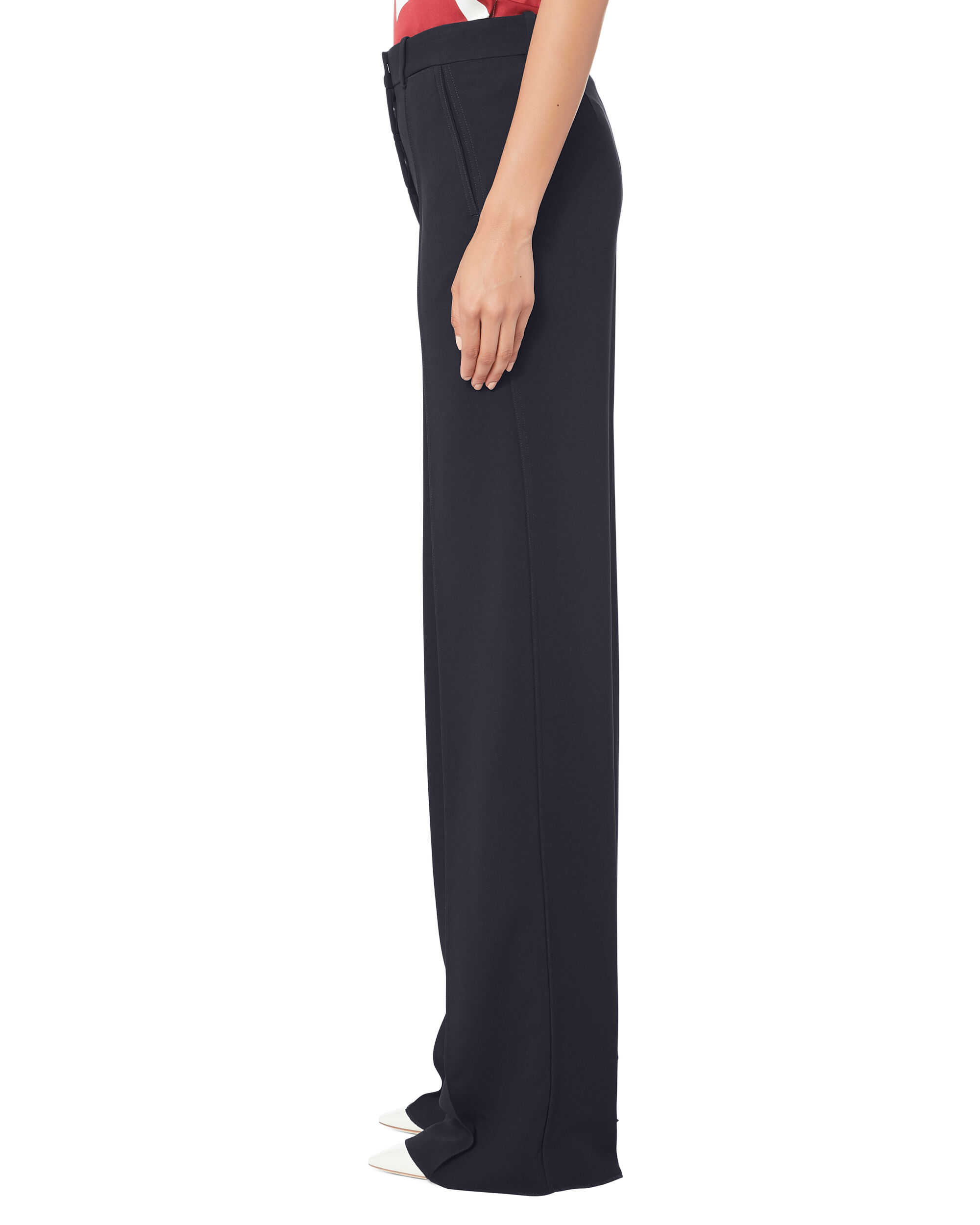Navy Wide Leg Trousers, NAVY, hi-res
