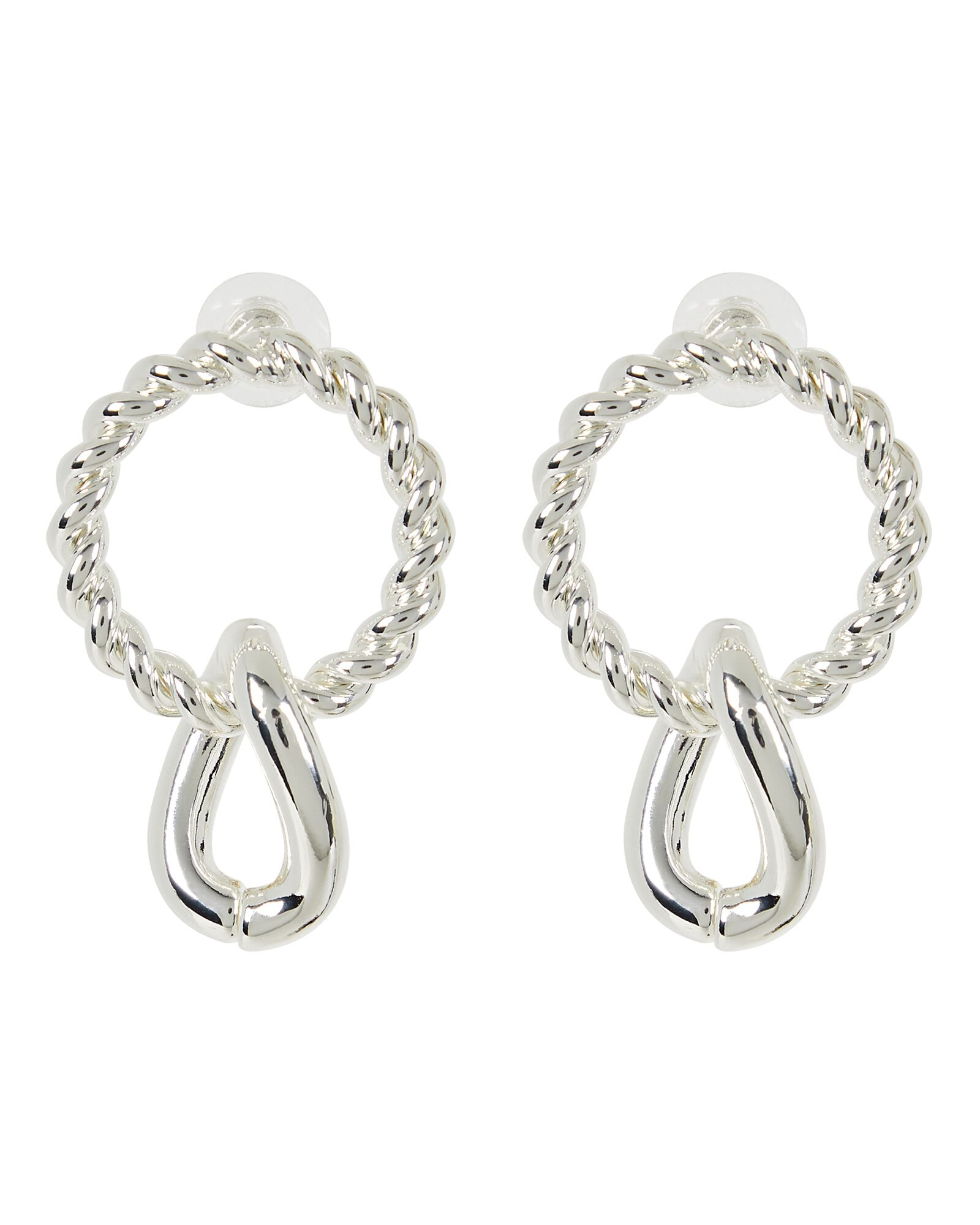 Pascal Circle Drop Earrings, SILVER, hi-res