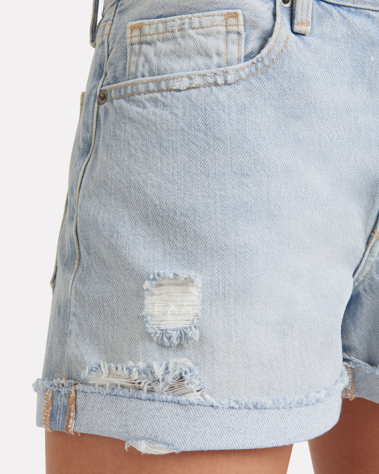 Le Brigette Raw Denim Shorts, DENIM-LT, hi-res