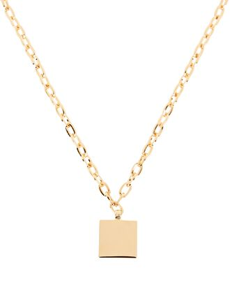 Square Chain-Link Pendant Necklace, GOLD, hi-res