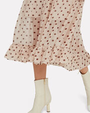 Alexondra Polka Dot Dress, LIGHT PINK/BEIGE, hi-res