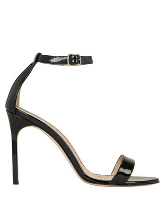 Chaos Patent Leather Heeled Sandals, BLACK, hi-res