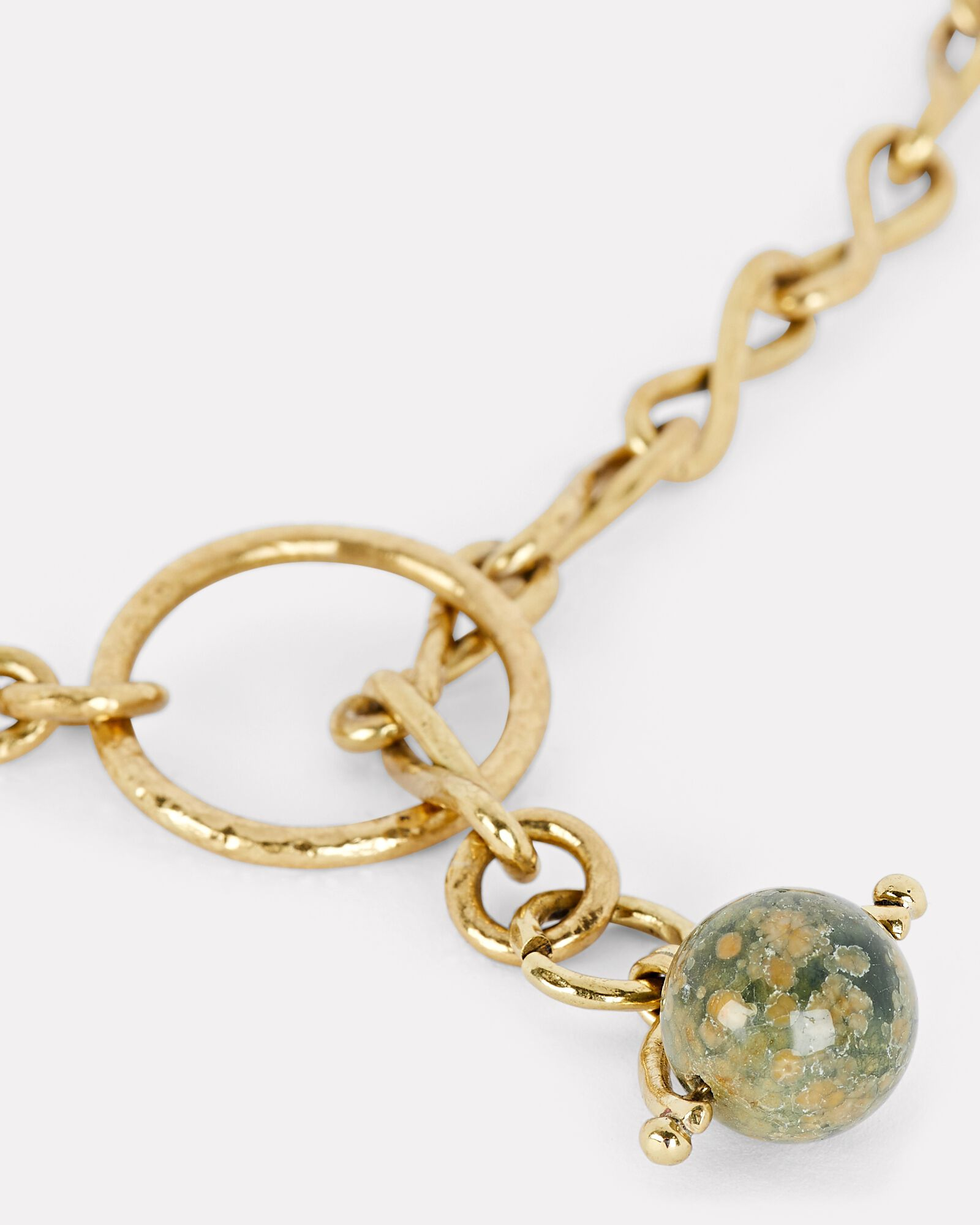 Ambrosia Chain Lariat Necklace, OLIVE/ARMY, hi-res