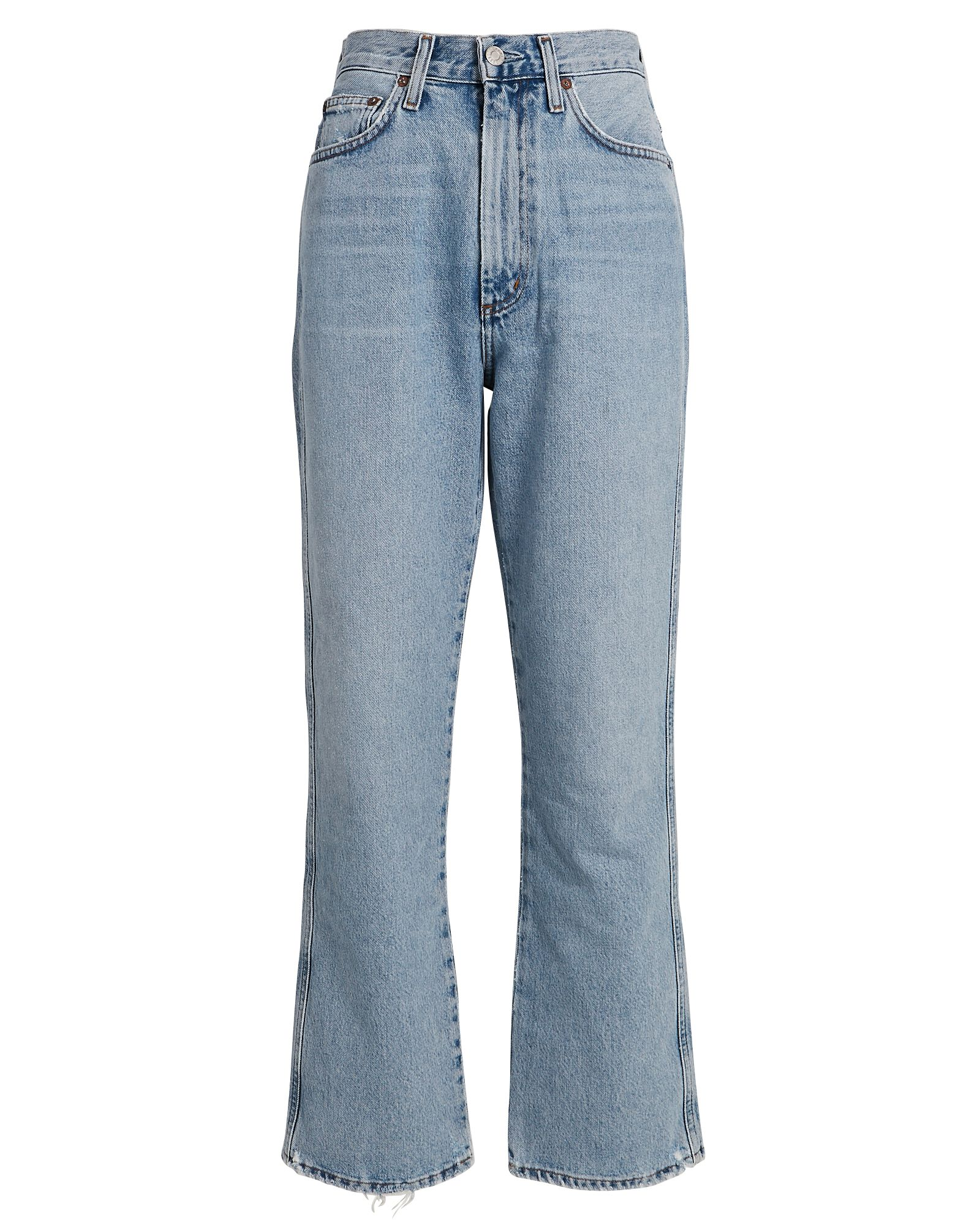 Pinch Waist High-Rise Kick Jeans, DENIM-LT, hi-res