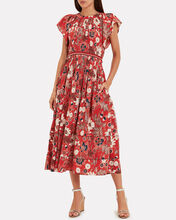 Lottie Floral Voile Dress, RED/FLORAL, hi-res