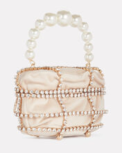 Ducas Cage Pearl and Crystal Clutch, , hi-res