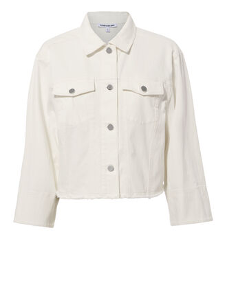 Branson White Denim Jacket, WHITE, hi-res