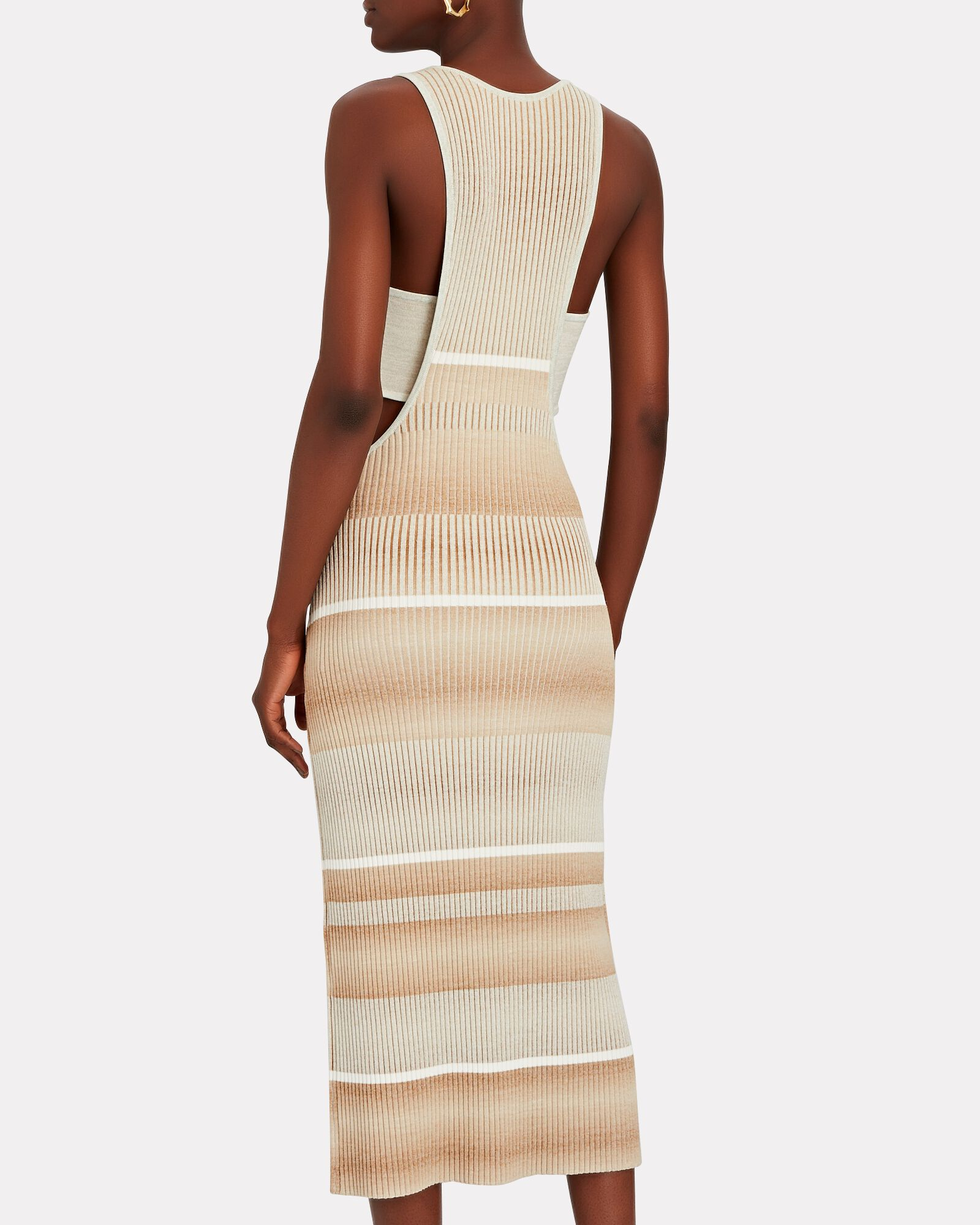 Colleen Striped Space Dyed Tank Dress, MULTI, hi-res
