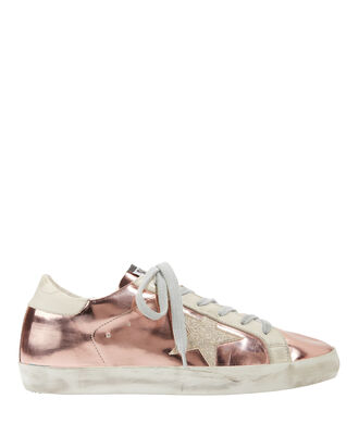 Rose Gold Superstar Sneakers, ROSE, hi-res
