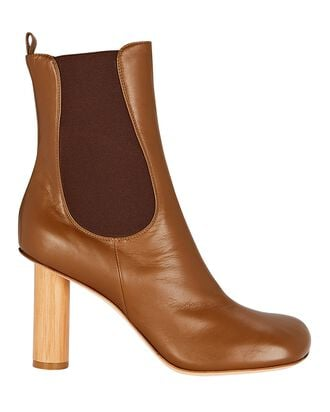 Ariana Leather Ankle Boots, BROWN, hi-res