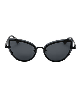 Adulation Cat Eye Smoke Sunglasses, BLACK, hi-res
