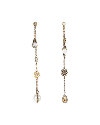 Signature Mismatched Earrings, GOLD, hi-res