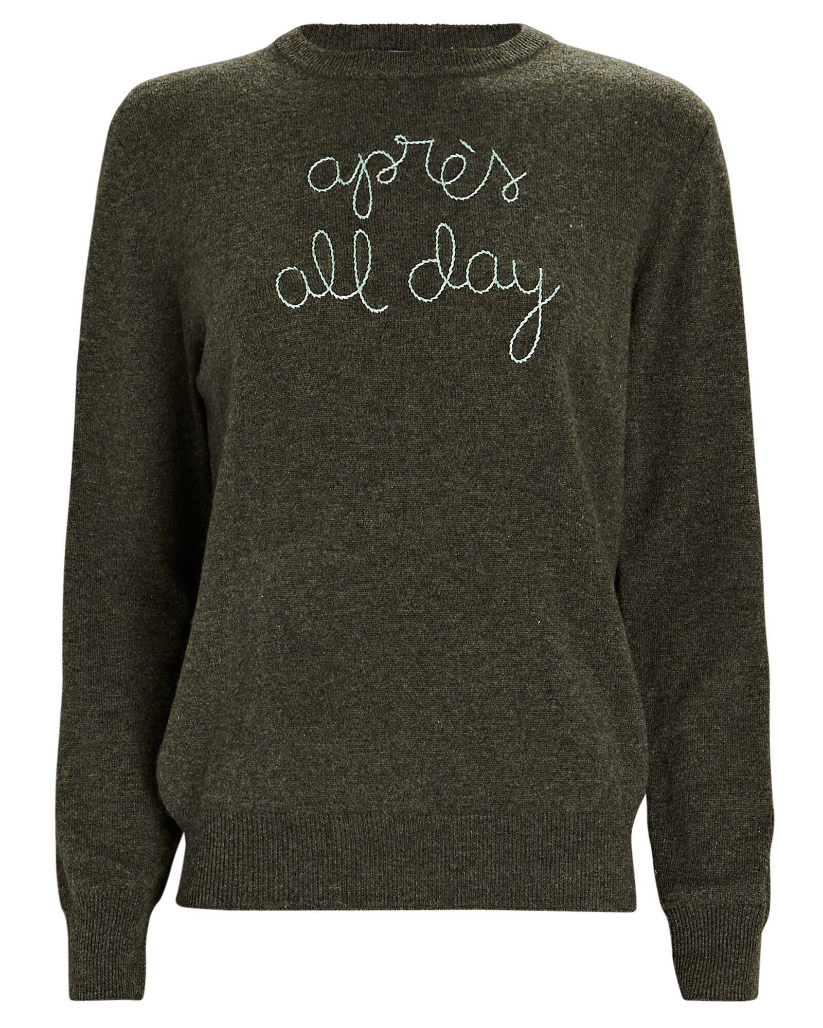 Après All Day Cashmere Sweater, OLIVE/ARMY, hi-res