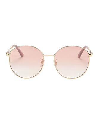 Pink Round Sunglasses, METALLIC, hi-res