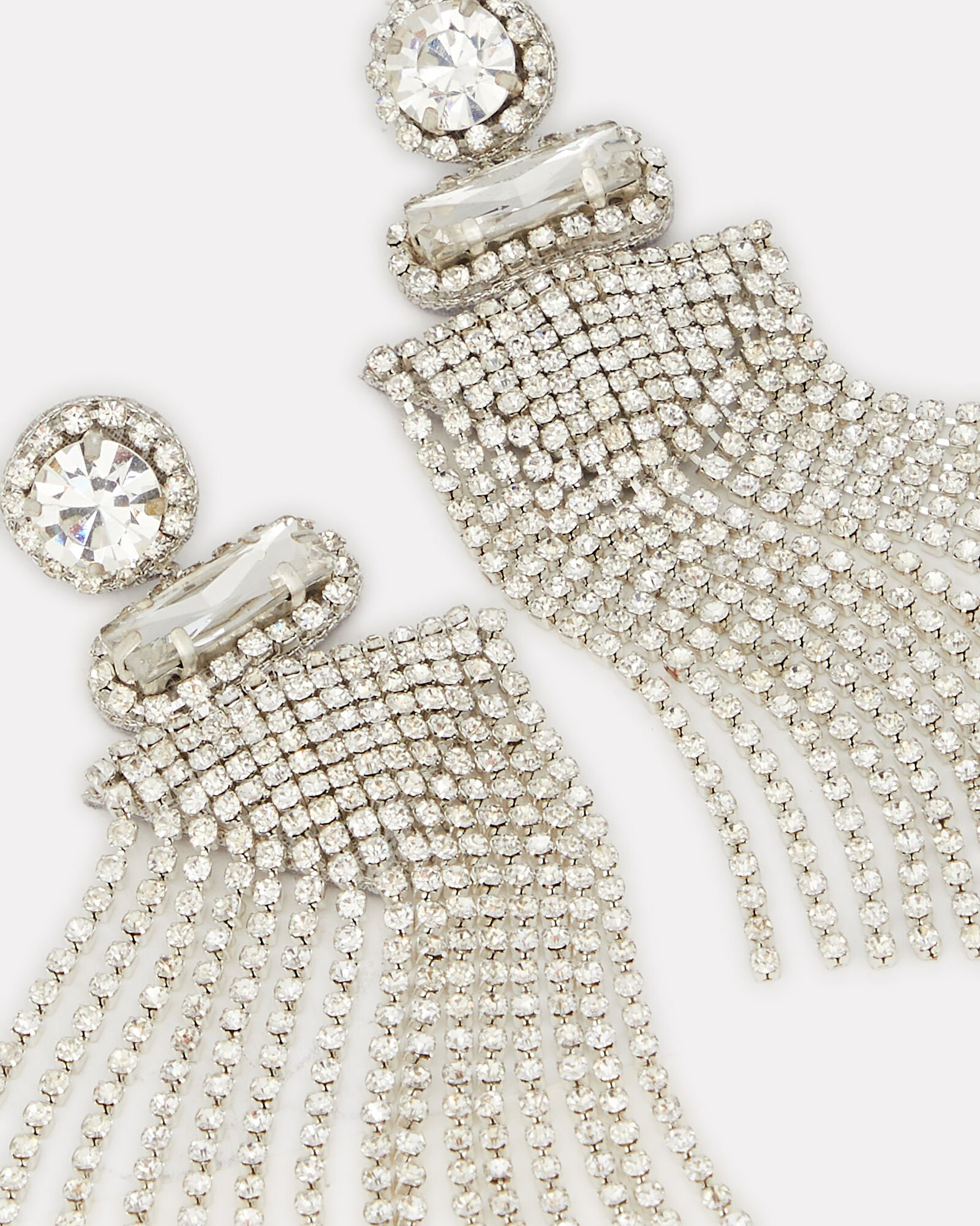 Jody Crystal Fringe Earrings, SILVER, hi-res