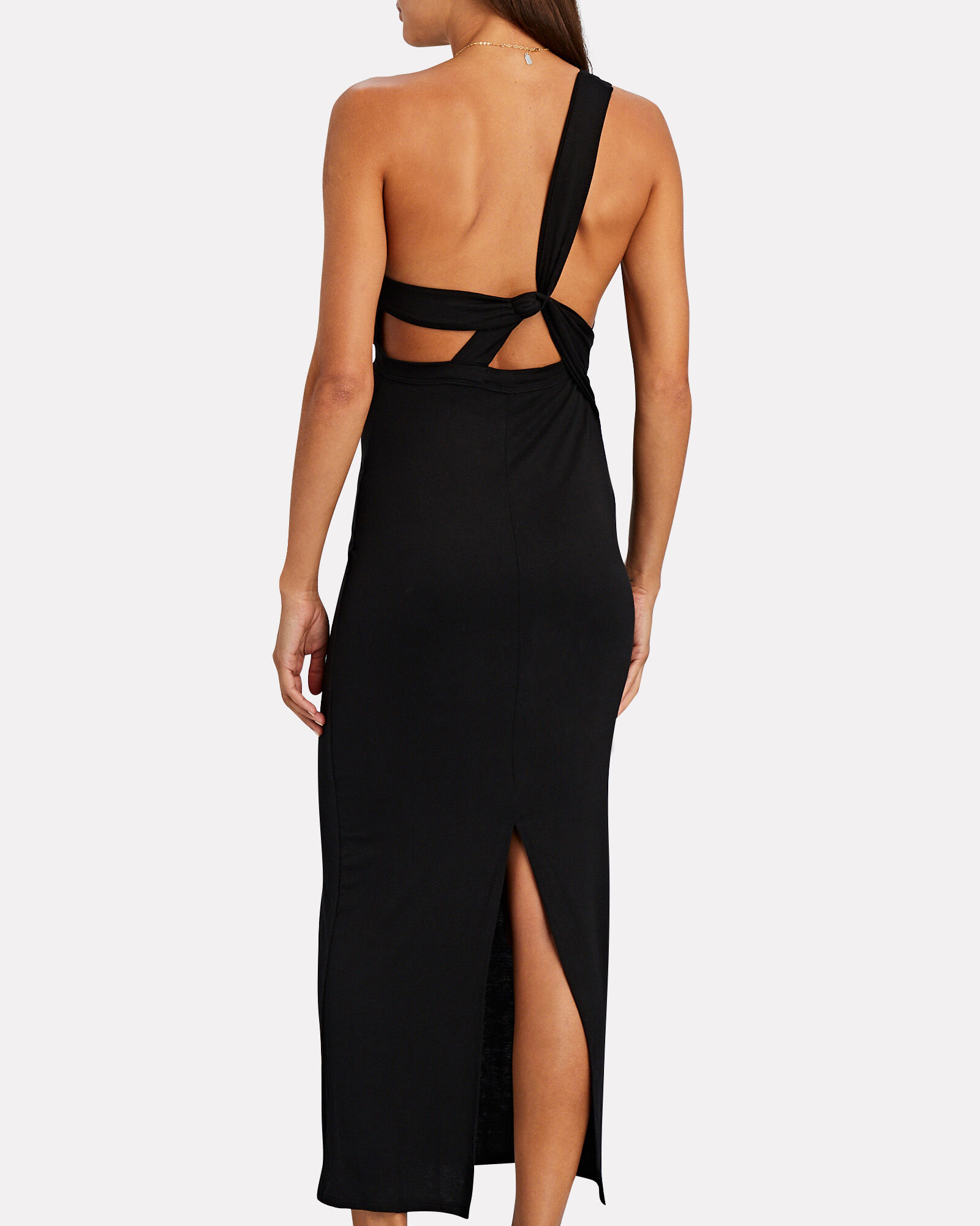 Avalon One-Shoulder Jersey Dress, BLACK, hi-res