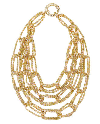 Onore Chain-Link Necklace, GOLD, hi-res