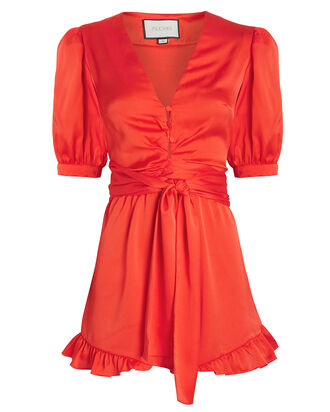 Indira Silk Romper, RED, hi-res