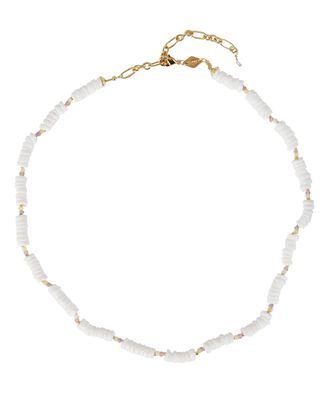 x TERRY Puka Shell Beaded Necklace, WHITE, hi-res
