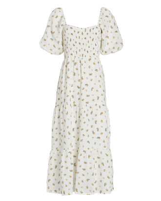Gianna Floral Linen Midi Dress, , hi-res