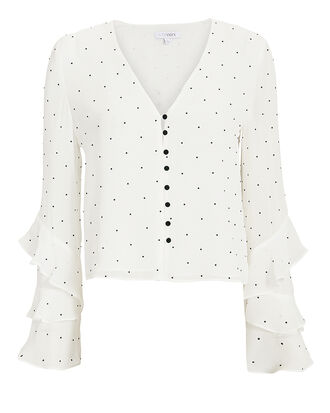 Meena Embellished Blouse, WHITE, hi-res
